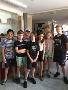 De kinderen van het eco-team